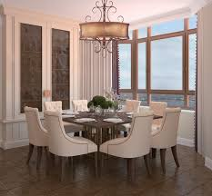 Chandelier For Dining Room Glamorous Drum Shimmer Shaded Bronze Scroll Chandelier