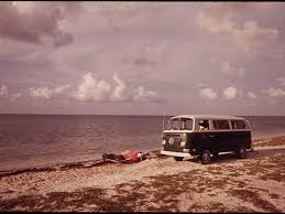 volkswagen bus beach take a virtual road trip with vintage photos of vw buses condé