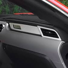 Mustang Interior Accessories Chrome Dashboard Molding Trim For Ford Mustang 2015 2016 2017 Car
