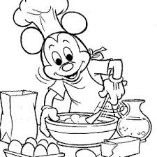 mickey mouse mickey mouse cooking coloring mickey mouse