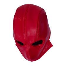 dfym batman red hood leather mask helmet for halloween cosplay