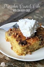 pumpkin crunch cake with chocolate chips today u0027s creative life