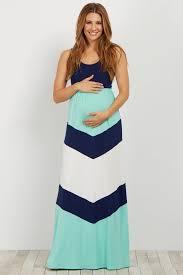 navy blue chevron printed bottom maternity maxi dress