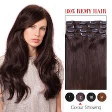 14 inch hair extensions 14 inch brown 2 7pcs set remy clip in