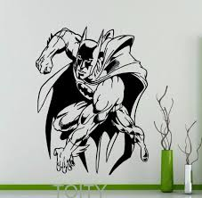 compare prices on cool dorms online shopping buy low price cool batman sticker cool comics superhero wall poster vinyl decal dorm club home interior decoration teen room