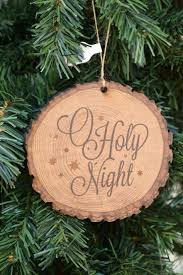 o holy wood slice ornament from family christian