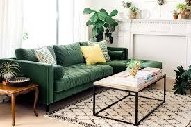 my sofa my new green sofa the house that lars built