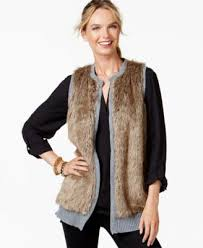 sweater vest womens ny collection faux fur front sweater vest sweaters macy s