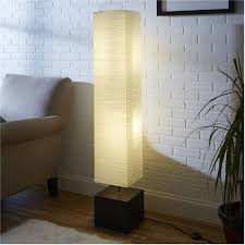 Japanese Rice Paper Lamp Shades by Mainstays White Rice Paper Floor Lamp With Dark Wood Base