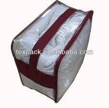 Duvet Bags Clear Pvc Blanket Storage Bags With Flat Non Woven Handle Bedding