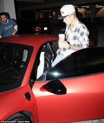 justin bieber new car 2014 justin bieber looks unimpressed after of partying at la