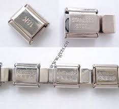 stainless steel bracelet charms images Stainless steel italian charm link jpg