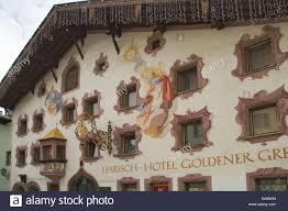 austria kitzbuhel hotel restaurant decorative exterior facade