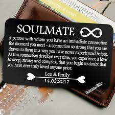 personalized gifts for him soulmate christmas card ebay