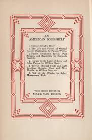 an american bookshelf u2013 a series of series