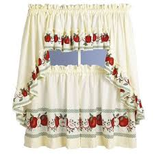 kitchen curtains delicious apples kitchen curtain linens4less