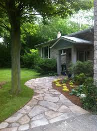 Dry Laid Patio by Natural Flagstone Used To Create Great Landscape Designs