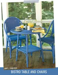 wicker by maine cottage bistro table u0026 chairs in china blue