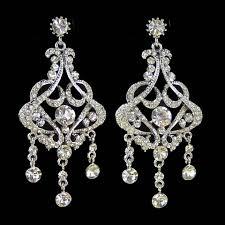 wedding earrings chandelier wedding earrings chandelier bridal vintage pertaining to