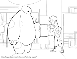 baymax kicks soccer ball coloring page big hero 6