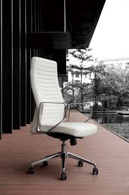 Modern White Chairs Modrest Barra Modern White High Back Office Chair Office Chairs