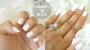 how to do a manicure at home how to paint nails youtube