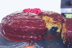 vegan birthday cake blueberry spice raspberry chocolate