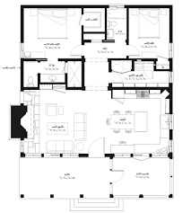 2 Bed 2 Bath Floor Plans Home Design Bedroom Story Luxury Bungalow House Plans Bath