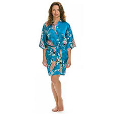 robes de chambres femmes lovekimono suki kimono robe de chambre femme en soyeux satin amazon