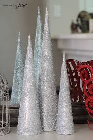 45 cone shaped trees decorations