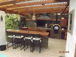 Outdoor Kitchen Against House Quincho Quincho Pinterest Patios Pergolas And Backyard