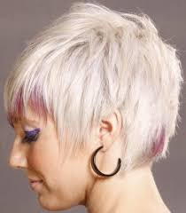 images of back of head short hairstyles light blonde short hair pink highlights on bangs and back of the