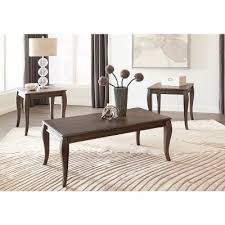 3 piece end table set charcoal brown 3 piece coffee table set vintelli rc willey