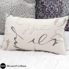 your own custom lumbar pillow cover