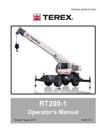 rt200 1 manual operator crane machine wound