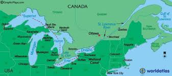 canadian map with great lakes the great lakes