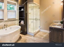 large furnished bathroom luxury home tile stock photo 306355703