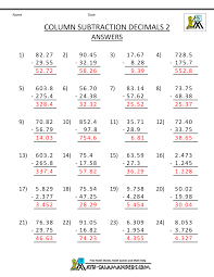 Division Worksheets Grade 4 Knockout Math Worksheets 4th Grade Ordering Decimals To 2dp 5