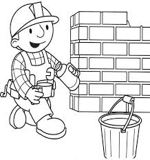 bob builder coloring drawing coloring