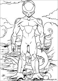 dragon ball feriza coloring pages coloring