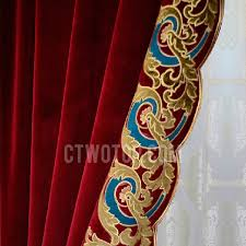 Velvet Blackout Thermal Curtains Red Thick Velvet Insulated And Thermal Blackout Curtain