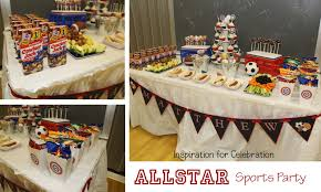 vintage sports baby shower ideas all american sports party a