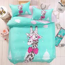 Giraffe Bed Set Guppies Bedding Set Tokida For