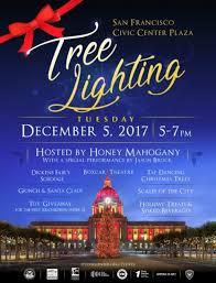 tree lighting san francisco 2017 san francisco civic center plaza tree lighting sf funcheap