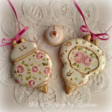 vintage floral ornaments cookie connection et délices by