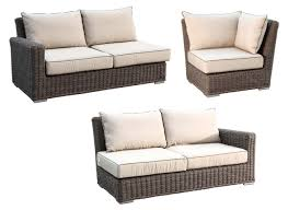 Sunset West Outdoor Furniture Sunset West Coronado 3 Piece Wicker Sectional Sofa Wicker Com