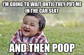 Car Seat Meme - 8 basic amenities ruined by children