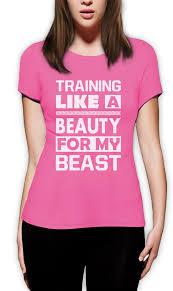 Gym Meme Shirts - training like a beauty for my beast women t shirt workout gym mma