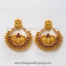 chandbali earrings the dharaa gold dipped silver chand bali earrings ko jewellery