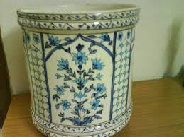 large ceramic planters vintage chinoiserie blue and white planter